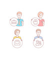 mail teapot and portfolio icons couple sign new vector image