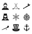 man beard icons set simple style vector image