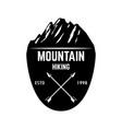 mountain tourism emblem design element for logo vector image vector image