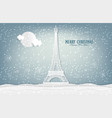 nature landscape and concept winter season vector image vector image