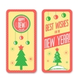 New Year vintage design greeting card background vector image