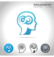 philosophy icon set vector image vector image