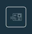 postcrossing icon line symbol premium quality vector image