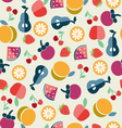ruit background in Flat style vector image vector image