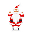 santa claus with hands raised up isolated on white vector image vector image