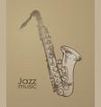 saxophone jazz vector image