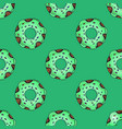 seamless pattern from multi-colored donuts in a vector image vector image