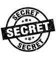 secret round grunge black stamp vector image vector image