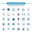 seo and developement icons vector image