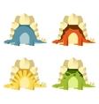 set stegosaurus vector image