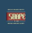 shape 3d font alphabet vector image