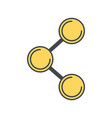 sharing social media symbol vector image vector image