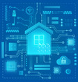 smart home modern abstract light style concept vector image vector image