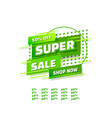 super sale off shop new banner set collection vector image vector image