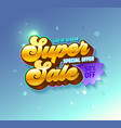 super sale offer 3d banner promotion discount vector image vector image