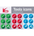 Tools icons set Glue pliers stapler hammer vector image