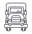 truck front view line icon sign vector image vector image
