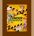 under construction constructor children vector image