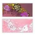 Unique pattern card set with art flowers vector image vector image