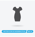 women dress icon simple car sign vector image vector image