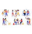 women friends cartoon girls spend time together vector image