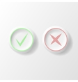 yes or no circle icons vector image