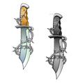 vintage dagger vector image