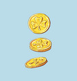 coins falling falling money vector image