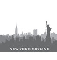 new york usa skyline american city silhouette vector image
