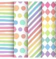 Set of 4 hand painted geometric seamless patterns vector image