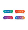1-4 step set flat vector image vector image