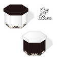 a set of two elegant gift boxes with rococo vector image vector image