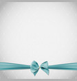 abstract beauty background with bow and ribbon vector image