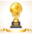 Abstract Golden Soccer Trophy vector image