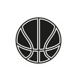 basketball ball outline in white background vector image