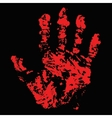 Bloody Hand Trace vector image