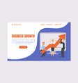business growth landing page template business vector image