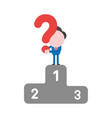 businessman character holding question mark on vector image vector image