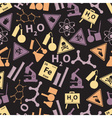 chemistry color icons dark pattern eps10 vector image vector image