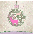 Christmas Ornate Bauble Background vector image