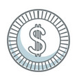 coin dollar currency money cash icon vector image