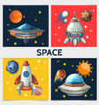 colorful space square composition vector image vector image