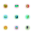 Communication over internet icons set vector image vector image