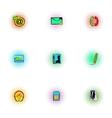 Communication over internet icons set