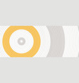 concentric circles yellow white and gray colors vector image