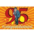 Congratulations 95 anniversary event celebration vector image