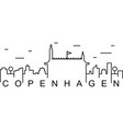 copenhagen outline icon can be used for web logo vector image