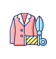 custom suits and shirts rgb color icon vector image vector image