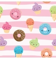 cute seamless pattern with sweets vector image vector image