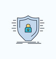 defence firewall protection safety shield flat vector image